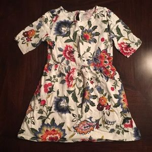 old navy white flower dress